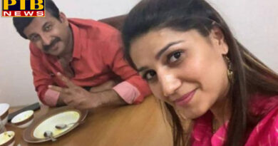 haryana dancer sapna chaudhary congress joining bjp manoj tiwari meet breakfast BJP