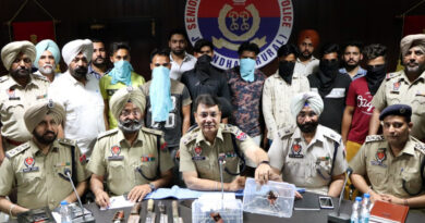 PTB Big City News Jalandhar rural police arrest seven robbers, seize pistols with bullets and nigro 1 kg heroine