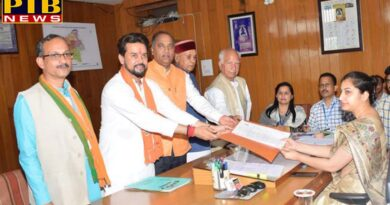 lok sabha election 2019 BJP hamirpur Candidate Anurag Thakur Files Nomination in hamirpur