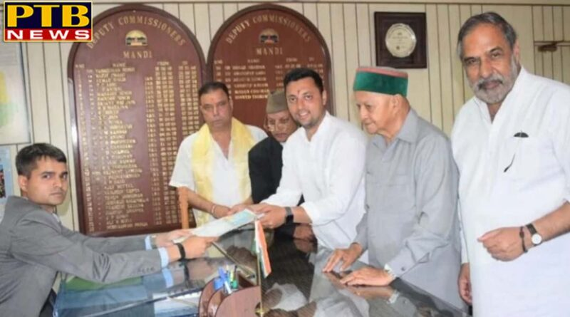 loksabha election 2019 Congress Mandi Candidate Aashray Sharma Files Nomination