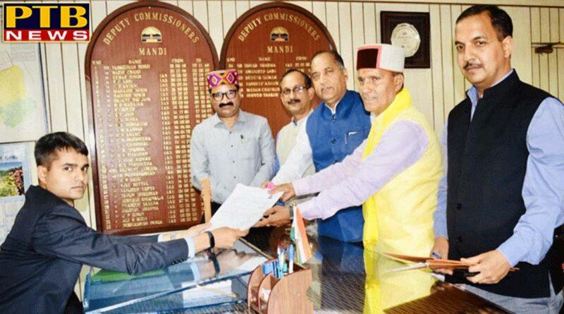 PTB Big Political News himachal latest himachal ram swaroop sharma filed nomination from mandi seat