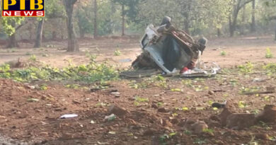 PTB Big Breaking News chhattisgarh lok sabha elections 2019 bjp convoy attacked by naxals in dantewada of chhattisgarh PTB Big Breaking