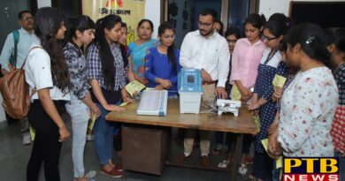 awareness of EVM machines in S.D.College Jalandhar