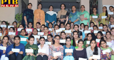 "Students of Lyallpur Khalsa College for Women, awarded ""S.Balbir Singh Memorial Scholarship for Brilliant Students"" PTB Big Breaking"