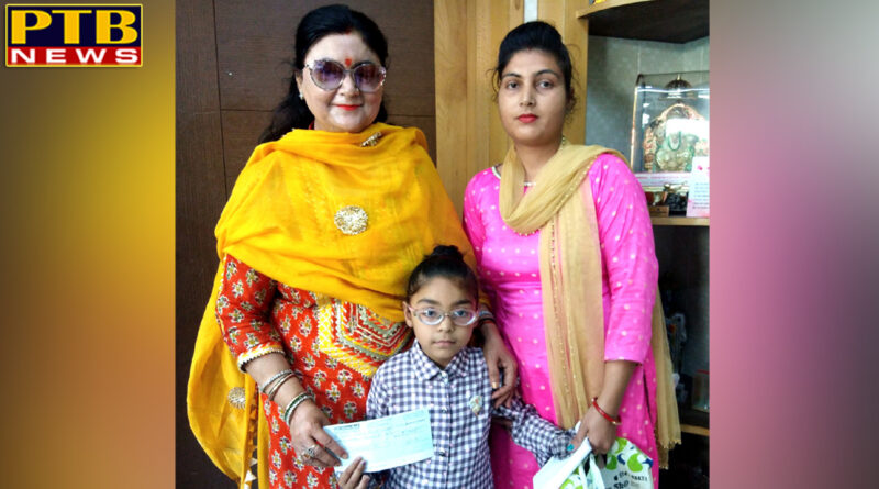 Scholarship to Jhajleen Kaur on Kanjak Poojan by St Soldier Group of Institutions Jalandhar