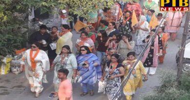 PTB Big Political News Mission Modi Mhila Morcha team Door-to-Door at jalandhar