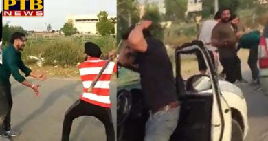 PTB Big Breaking News the police beat the youth on the airport road and the video was viral mohali airport road