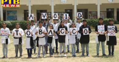 PTB News Innocent Hearts School spreads a message on 'Anti Tobacco Day'