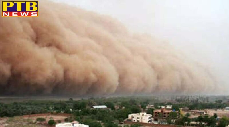 rajasthan dust storm thunderstorm and wind of 40 50 kmph likely to occur at isolated places from 11 15 jun