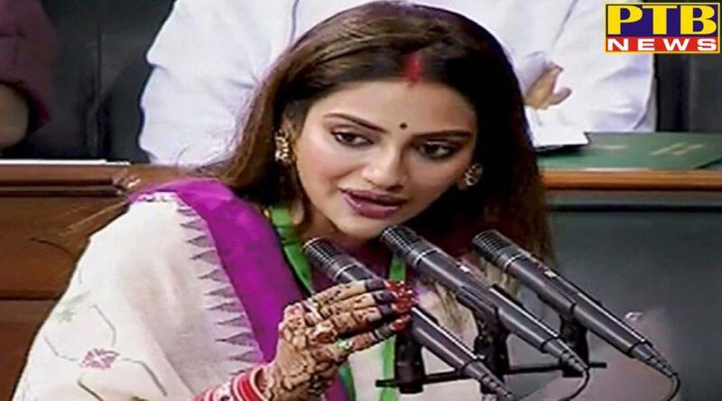 PTB Big Political News tmc mp nusrat jahan mimi chakraborty takes oath in lok sabha