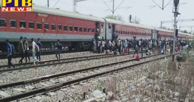 uttar pradesh chitrakoot a fire in the sleeper compartment in pawan express train