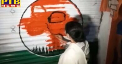 National mamata banerjee break bjp office lock tmc marks she painted herself