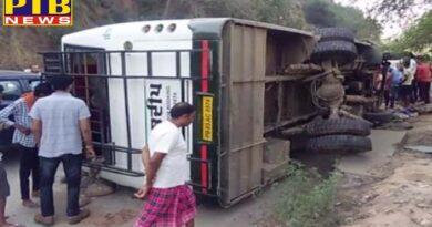 Big Accident in punjab the pilgrims bus accident one death Kiratpur sahib