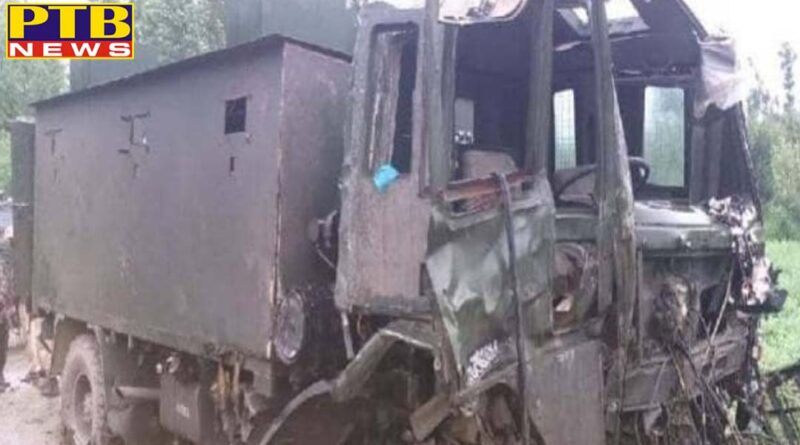 jammu kashmir ied blast in pulwama indian army casper terro attack