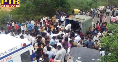 PTB Big Accident News big casualty in karnataka 12 people killed in auto rickshaw and bus accident