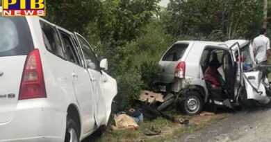 PTB Big Accident News punjab jalandhar city five dead in collision of two cars near jalandhar