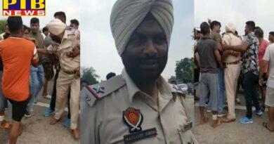 Himachalis beat Jalandhar Bhogpur police Arms also looted Punjab Himachal Pardesh Kangra