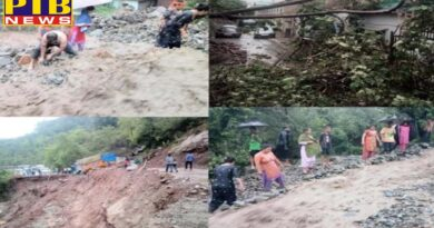 many roads closed and landslide in himachal after heavy rainfall