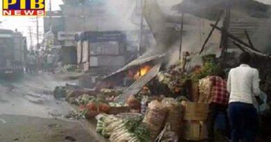 PTB Big Breaking News amritsar fire in jainpur market Punjab