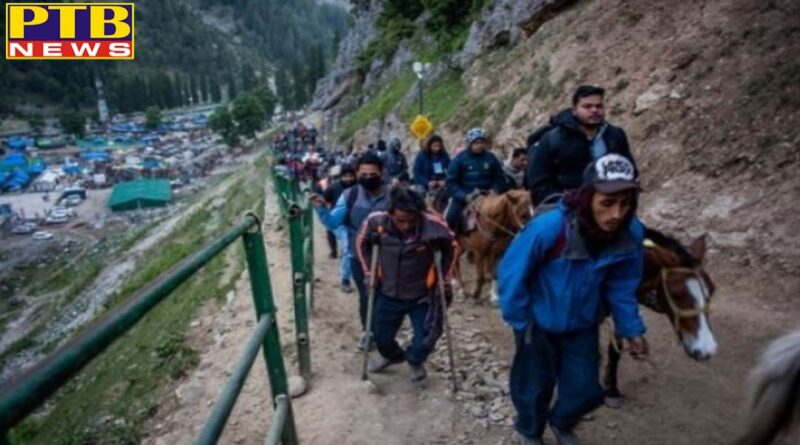 PTB Big Breaking News More than 15 thousands pilgrims pay obeisance at Amarnath