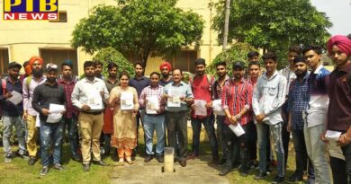Mehr Chand Polytechnic College made aware of students under water conservation campaign