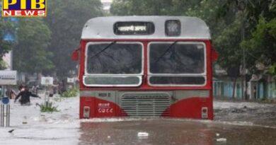 mumbai heavy rain warning waterlogging palghar train cancel diverted