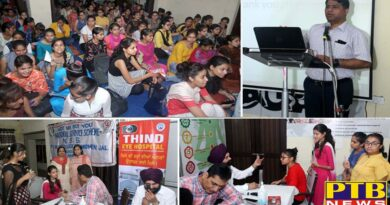 Dry Eye Awareness Camp in SD College by Thind Eye Hospital