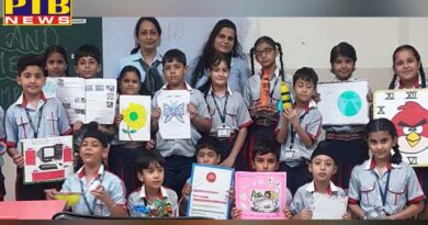 Students of GD Goenka School took part in 'Show and Tell' competition