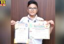 vibhor of innocent hearts won two gold medals at the international karate championship
