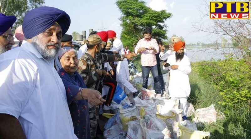 Cong govt directly resp for misery wrought on flood hit people, Sukhbir Badal