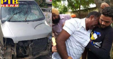 ludhiana road accident on jagraon railway bridge two died and one injured