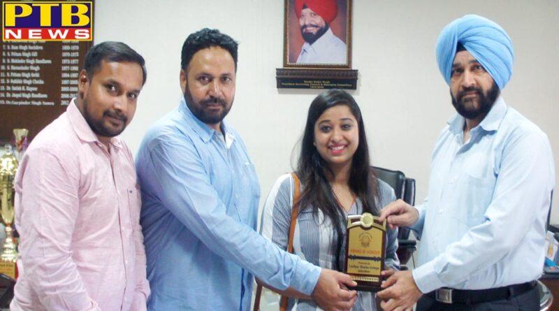 Lyallpur Khalsa College Jalandhar student Nishu Arora passed CA exam 2019