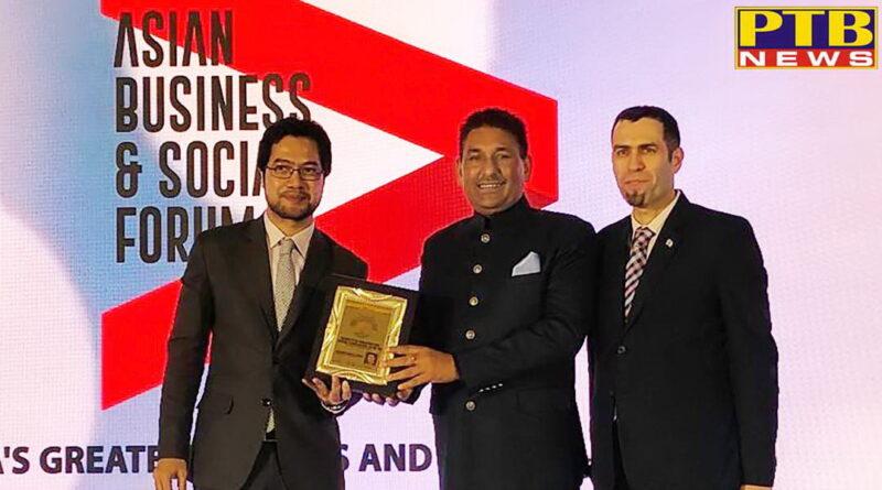 Vasal Educational Group Chairman Sanjeev Kumar Vasal conferred with the Bhartiya Mahanatam Vikas Puraskar Jalandhar