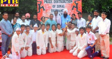 Cricket Tournament at Innocent Hearts School Loharan, concluded with the victory of U- 17 Innocent Hearts School, Loharan
