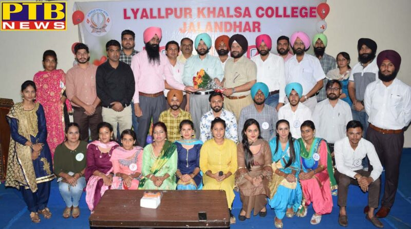 MA Punjabi students welcome celebrations at Lyallpur Khalsa College Jalandhar