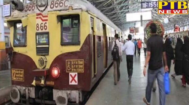 mumbai local train caught fire vashi railway station evacuated