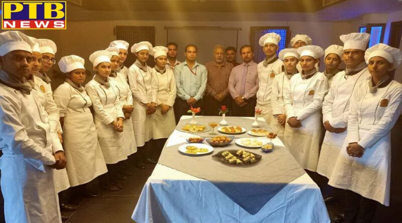 One Day Workshop on Indian Sweets Organized by Hotel Management Department of Innocent Hearts Group of Institutions PTB Big Breaking News