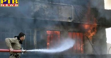 ludhiana Heavy damage because of fire incident in a garments factory