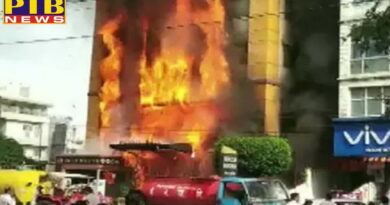 fire in a hotel in indore efforts are on to evacuate people