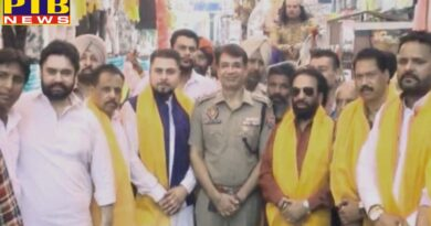 Sahil Bhatia along with SSP Navjot Singh Mahal also participated in the huge procession organized on Lord Valmiki Jayanti