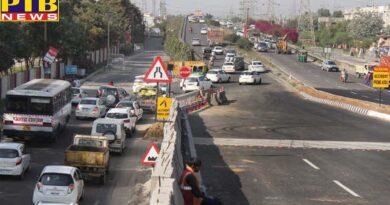 PAP Flyover work started again jalandhar Punjab