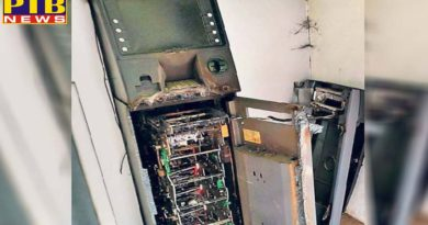 rupees 1465 lakh looted by cutting the automatic teller machine punjab amritsar