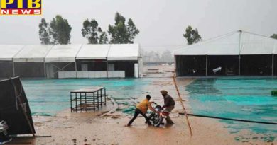 politics state tension before inauguration due to water filled in tent city and venue at dera nanak