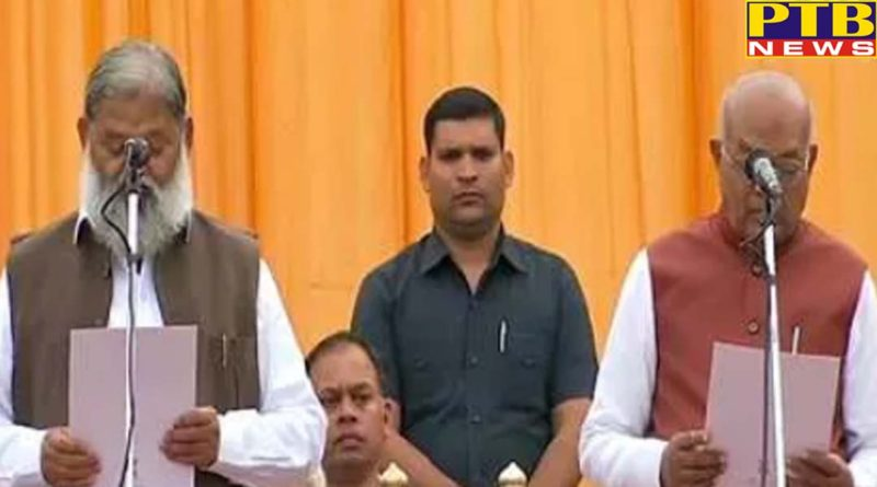 cabinet expansion 6 mlas sworn in as cabinet ministers and 4 as ministers of state haryana
