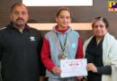 Ivy World School student Jyotsna Chaudhary in Jalandhar Athletics Competition outstanding performance
