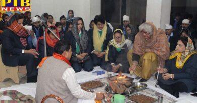 Mayor World School Jalandhar Havan & Ardaas on Basant Panchmi