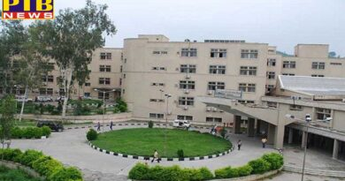 pgi fifth floor canteen caught fire big accident averted