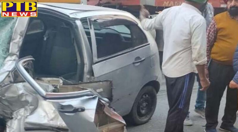three died and two injured in road accident in moga ludhiana