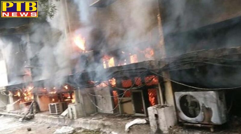 delhi transport department office caught fire 26 fire tenders on the spot