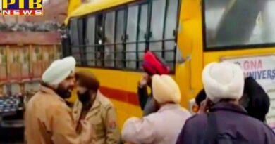 gna university bus accident near goraya jalandhar punjab eight injured India